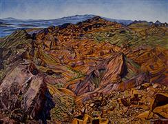 Landscape art,Western art,oil painting,Cathedral Peaks Vista