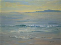 nature art,seascape art,oil painting,Wave Study II
