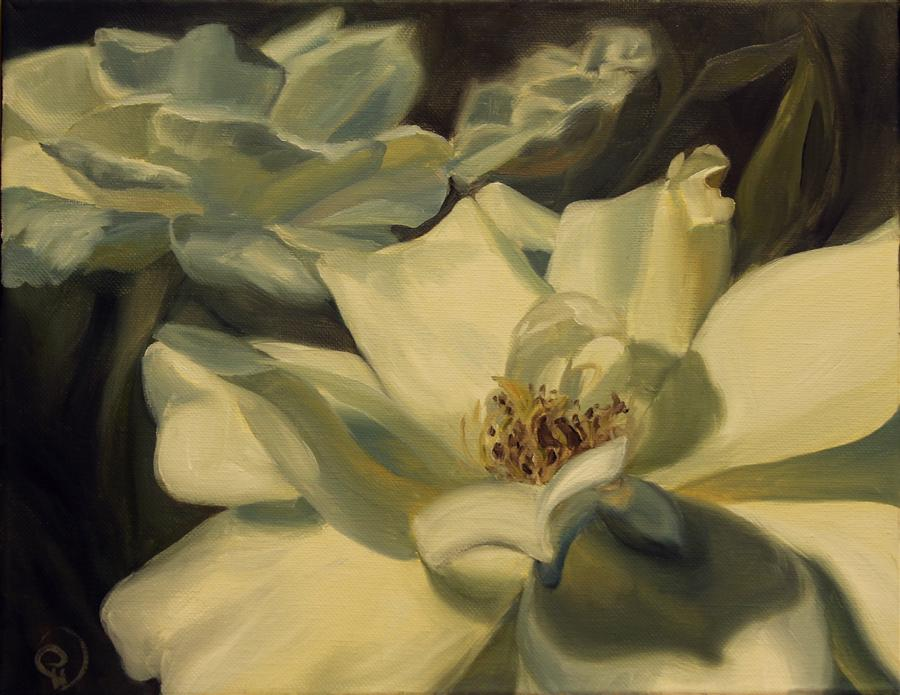 Original art for sale at UGallery.com | Gardenia Flower by PANDALANA WILLIAMS | $300 |  | 11' h x 14' w | ..\art\oil-painting-Gardenia-Flower
