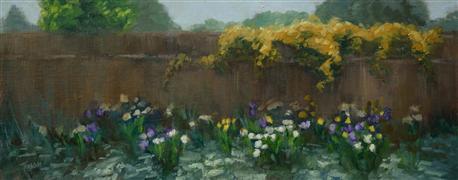 Impressionism art,Nature art,Flora art,oil painting,Tulip Season