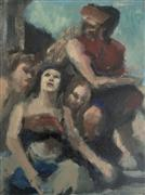 impressionism art,people art,oil painting,Renaissance Abstraction 2