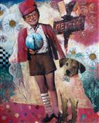 Animals art,People art,Surrealism art,mixed media artwork,Forever Friends!