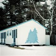 Architecture art,Surrealism art,Travel art,photography,Cabin with Blue Tree
