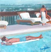 impressionism art,people art,travel art,acrylic painting,Floating