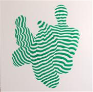 People art,Pop art,mixed media artwork,Stripe Pose #5