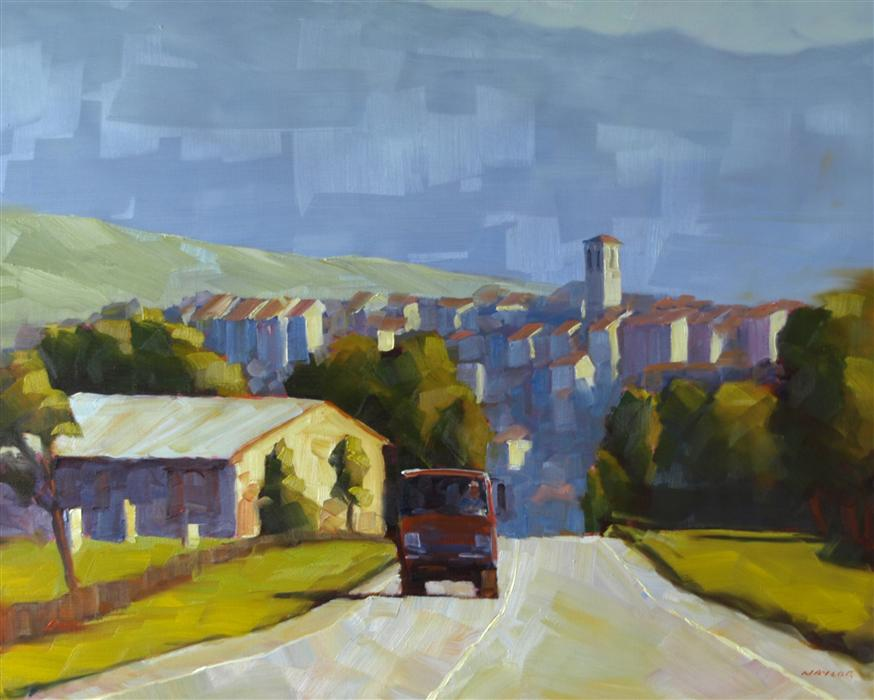 Original art for sale at UGallery.com | A Good Day on the Road by Rodgers Naylor | $2,550 | oil painting | 24' h x 30' w | ..\art\oil-painting-A-Good-Day-on-the-Road