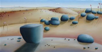 landscape art,nature art,surrealism art,oil painting,As the Sun Rises - Western Australia