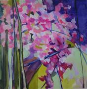 Impressionism art,Flora art,acrylic painting,A Fracture Of Cherry Blossoms
