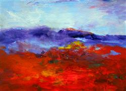 Abstract art,Landscape art,acrylic painting,Going Home