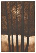 Nature art,Surrealism art,printmaking,Cathedral - Sepia