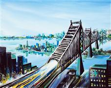 Architecture art,Landscape art,City art,acrylic painting,Queensboro