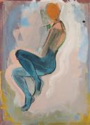 Expressionism art,People art,acrylic painting,Orange Head