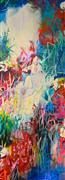 Abstract art,Expressionism art,Flora art,acrylic painting,Jardin l