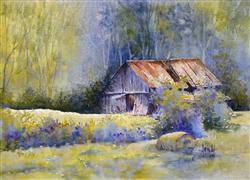 Architecture art,Impressionism art,Landscape art,watercolor painting,Barn in Berea 2