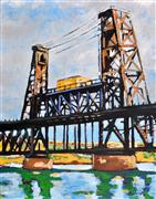 Architecture art,Landscape art,City art,oil painting,Portland Bridge
