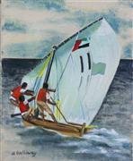 Seascape art,Sports art,oil painting,Sailing Dhow
