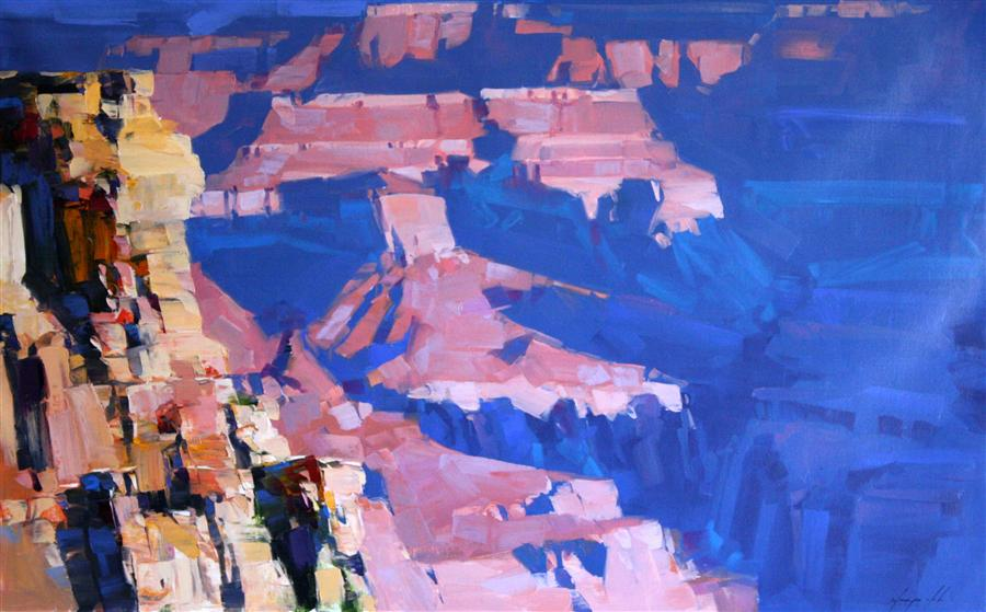 Original art for sale at UGallery.com | South Rim Morning by VAHE YEREMYAN | $1,675 | Oil painting | 27' h x 44' w | ..\art\oil-painting-South-Rim-Morning