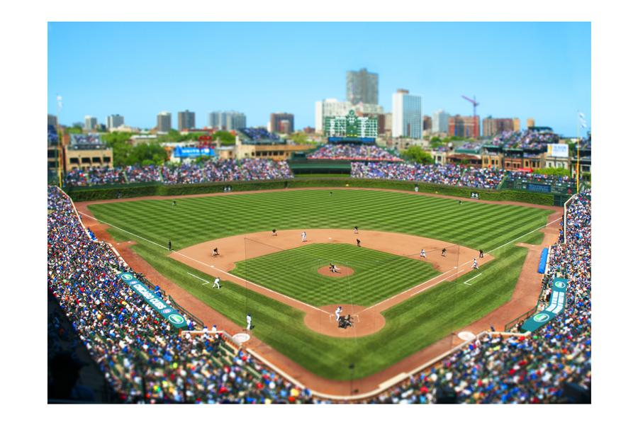 Original art for sale at UGallery.com | Wrigley Field, Chicago by Bryan Solarski | $300 | photography | 30' h x 20' w | ..\art\photography-Wrigley-Field-Chicago
