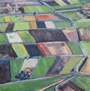 Abstract art,Landscape art,oil painting,Torrit Fields