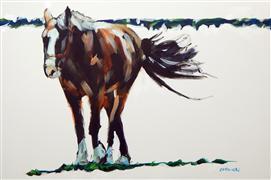 Animals art,Western art,acrylic painting,Strut
