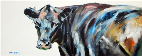 Animals art,Western art,acrylic painting,Under Her Gaze