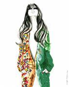 Fantasy art,People art,Pop art,gouache painting,I Am Ipanema