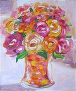 Still Life art,Flora art,acrylic painting,Sweet Roses Bouquet
