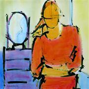 Abstract art,People art,acrylic painting,Mirror, Mirror...
