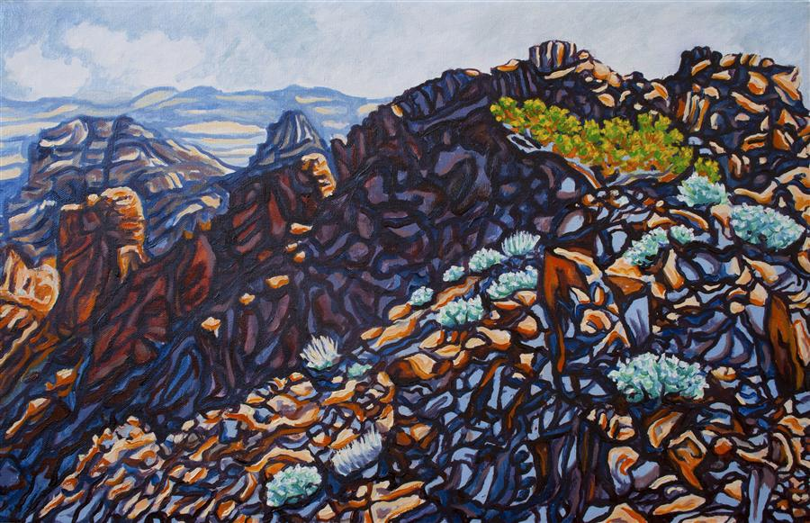 Original art for sale at UGallery.com | Jimbilnan Ridge by CRYSTAL DIPIETRO | $675 |  | 14' h x 22' w | ..\art\oil-painting-Jimbilnan-Ridge