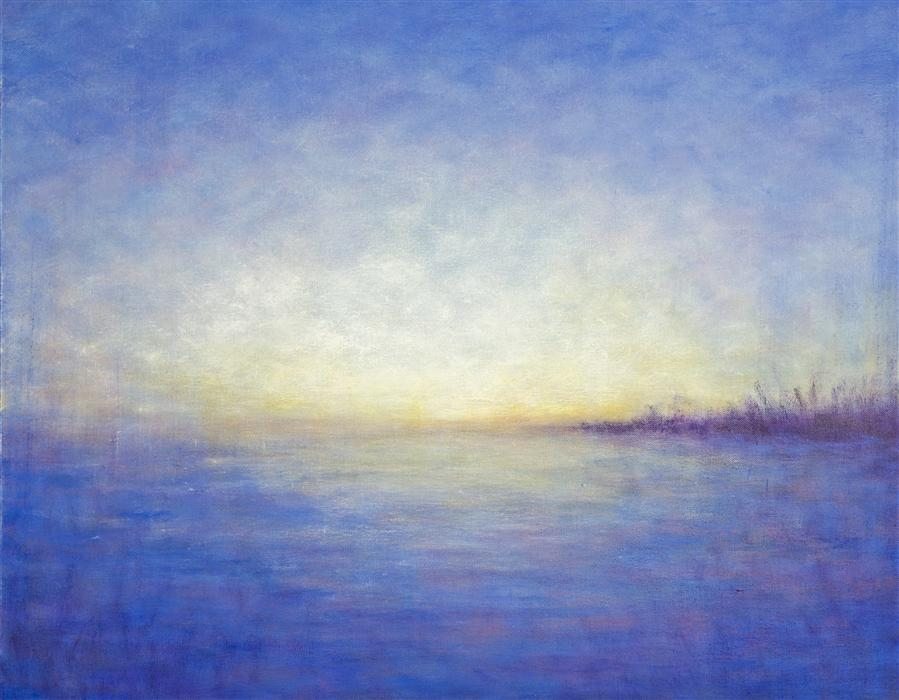 Original art for sale at UGallery.com | Waiting for Summer by VICTORIA VEEDELL | $1,175 |  | 24' h x 30' w | ..\art\oil-painting-Waiting-for-Summer