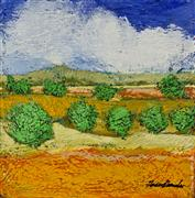 landscape art,nature art,acrylic painting,Golden Rod