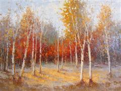 impressionism art,landscape art,nature art,oil painting,Harmonies of Nature #6