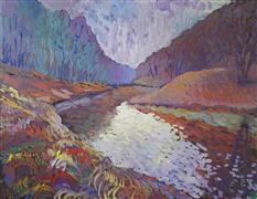 Expressionism art,Landscape art,acrylic painting,Still Waters