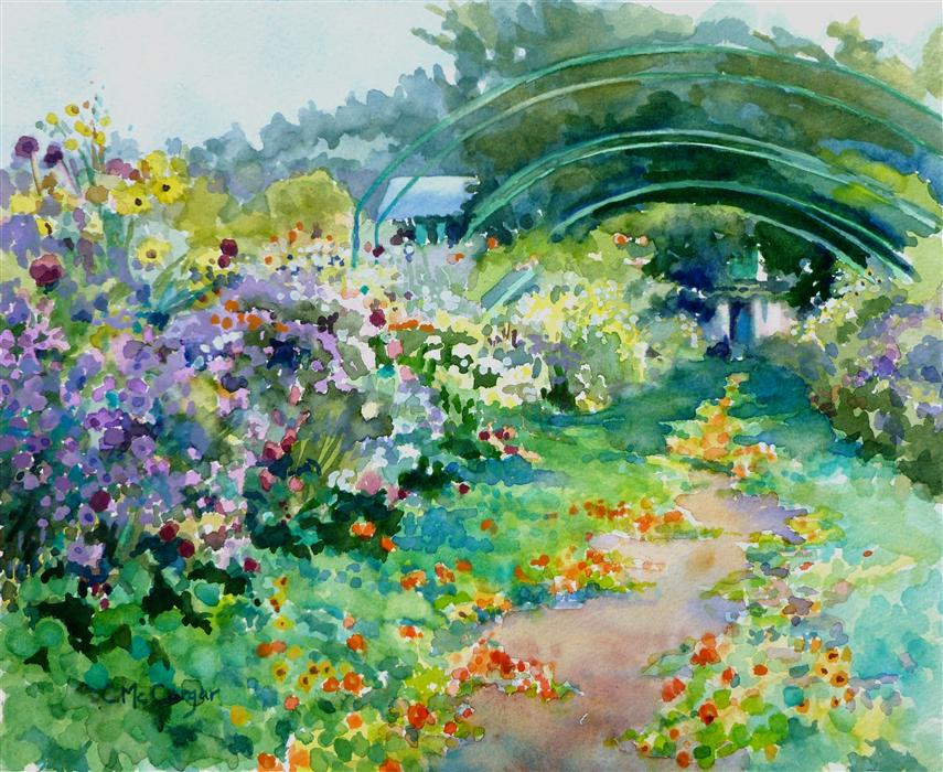 Original Art For Sale At UGallery.com | Monetu0027s Garden Path, Giverny By  CATHERINE