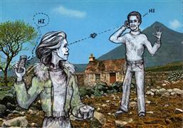 people art,pop culture art,mixed media artwork,First Date