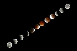 nature art,surrealism art,photography,Blood Moon Eclipse Sequence