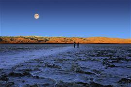 Landscape art,Surrealism art,Travel art,photography,Death Valley Moonset