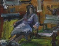 Abstract art,People art,oil painting,Seated Figure No. 1