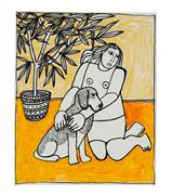 Expressionism art,Animals art,People art,mixed media artwork,Katherine Grieves