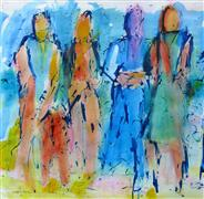 Expressionism art,People art,acrylic painting,Energy
