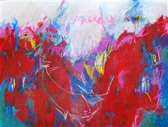 Abstract art,Expressionism art,mixed media artwork,The Dance of Soul Mates