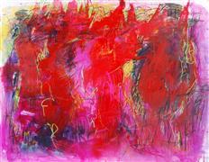 Abstract art,Expressionism art,mixed media artwork,Heart Fire Dance