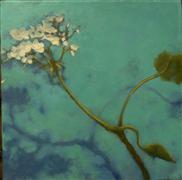 nature art,botanical art,oil painting,Geranium Left