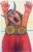 People art,Surrealism art,oil painting,Fat Lady Sings