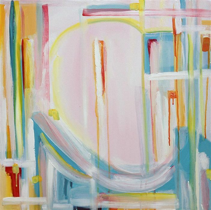 Original art for sale at UGallery.com | Sashimi by Kiana Mosley | $575 | acrylic painting | 20' h x 20' w | ..\art\acrylic-painting-Sashimi