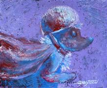 Children's art,Fantasy art,Animals art,acrylic painting,Super Hedgehog