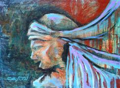 fantasy art,people art,acrylic painting,Excitement