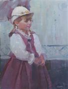 children's art,impressionism art,people art,oil painting,Renaissance Girl