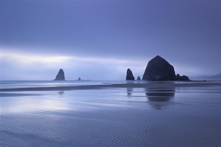 Original art for sale at UGallery.com | Cannon Beach in Fog by Katherine Gendreau | $25 | photography | 36' h x 24' w | ..\art\photography-Cannon-Beach-in-Fog