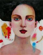 expressionism art,people art,acrylic painting,Helena